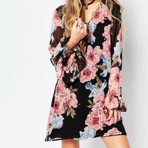ASOS Honey Punch Festival Bell Sleeve Dress
